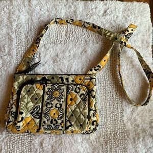 Vera bradley floral quilted purse
